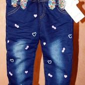 Утепленные джинсы на девочку