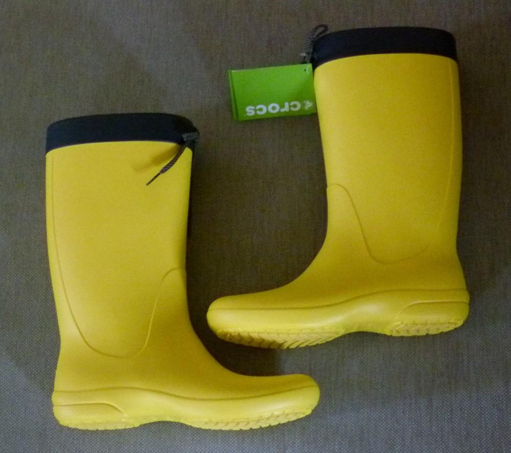 Сапоги crocs freesail rain boot, w6 фото №5