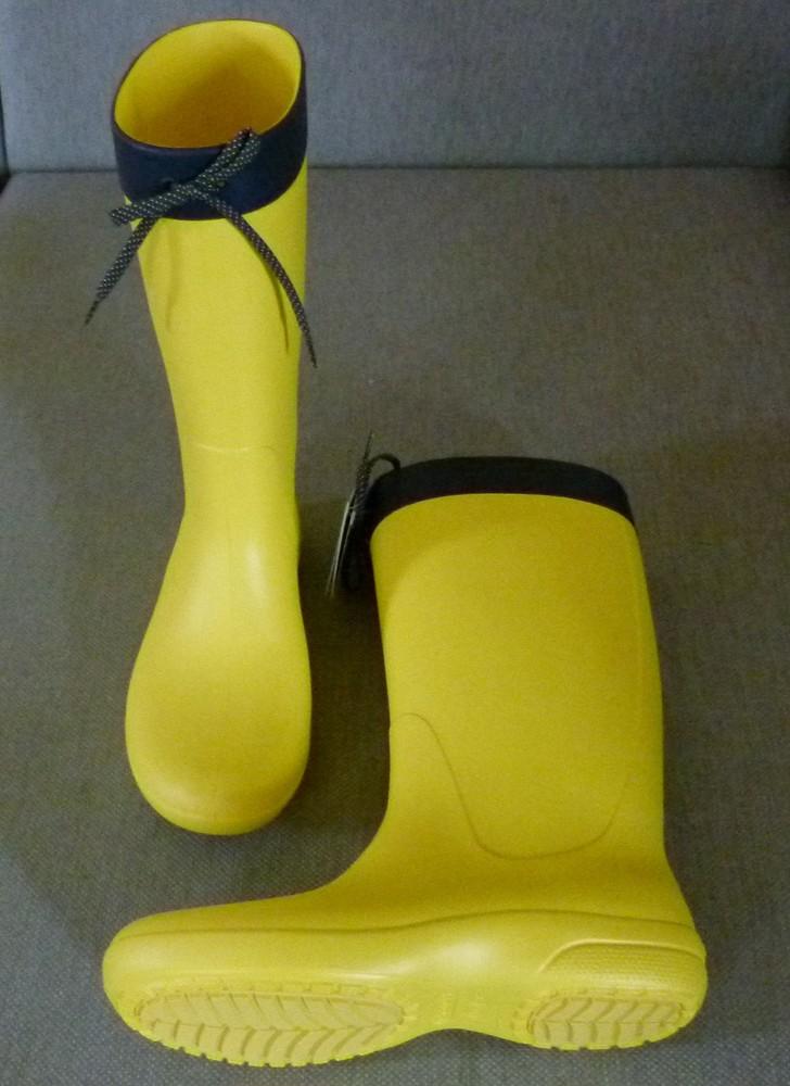 Сапоги crocs freesail rain boot, w6 фото №6