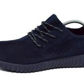 Кроссовки Adidas Yeezy 350 Boost (черные, синие)