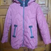Демісезонне стьогане пальто дівчинці 157-168 см
