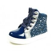 Детские демисезонные ботинки для девочки J&G. Р. 27-32