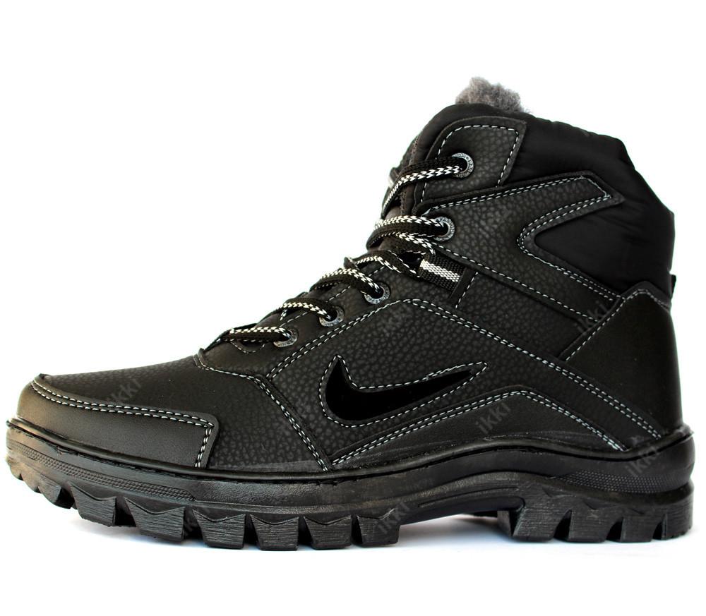 Ботинки мужские зимние в стиле nike на меху (пб-71чср) фото №1