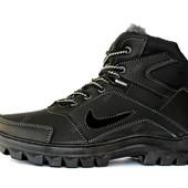 Ботинки мужские зимние в стиле Nike на меху (ПБ-71чср)