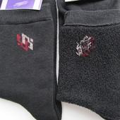 Зимові чоловічі носки, махра, стрейч