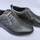 """Туфли черные на мальчика на шнурках, С6601, ТМ """"Paliament"""", размеры: 31, 32, 33, 34, 35, 36"""