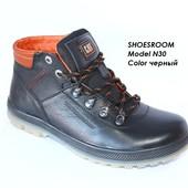 Мужские кожаные ботинки на зиму CAT