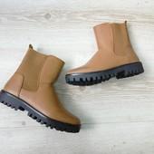 Женские ботинки  коричевые