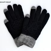 В наличии чёрные. Перчатки сенсорные мужские Айфон.