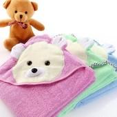 Срочный сбор! Детское полотенце уголок для купания Мишка, р.90*90