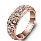 Позолоченное кольцо!! Swarovski Element !! 16,18