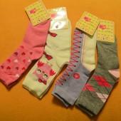 Носочки для девочки 4пары, длина 17см