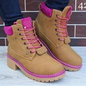 Распродажа!!!Зимние ботинки тимберленды