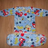 Пижама вел-софт р110,116,122 мальчикам и девочкам, см расцветки разные