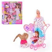 Кукла Дефа Беременная с коляской. Defa 8049
