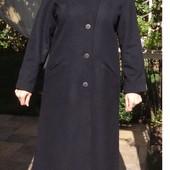 Шерстяное пальто бойфренд с капюшоном. Швеция. Есть нюанс.