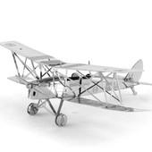 12-20 Металлическая сборная 3D модель Биплан Tiger Moth/ конструктор/ пазлы/ головоломки