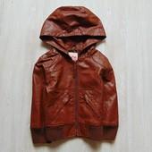 Стильная кожаная куртка (кож.зам) для девочки. New Look. Размер 9 лет. Состояние: новой вещи
