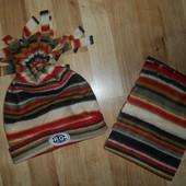 Новые! Комплект шарфик и шапочка на 8-12 лет. Лот - 1 набор на первом фото.