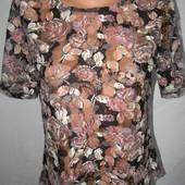 Ажурная блуза с принтом