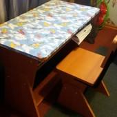 Стол - парта растишка + стул растишка - 600 грн