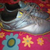 кроссовки футзалки adidas, кожаные
