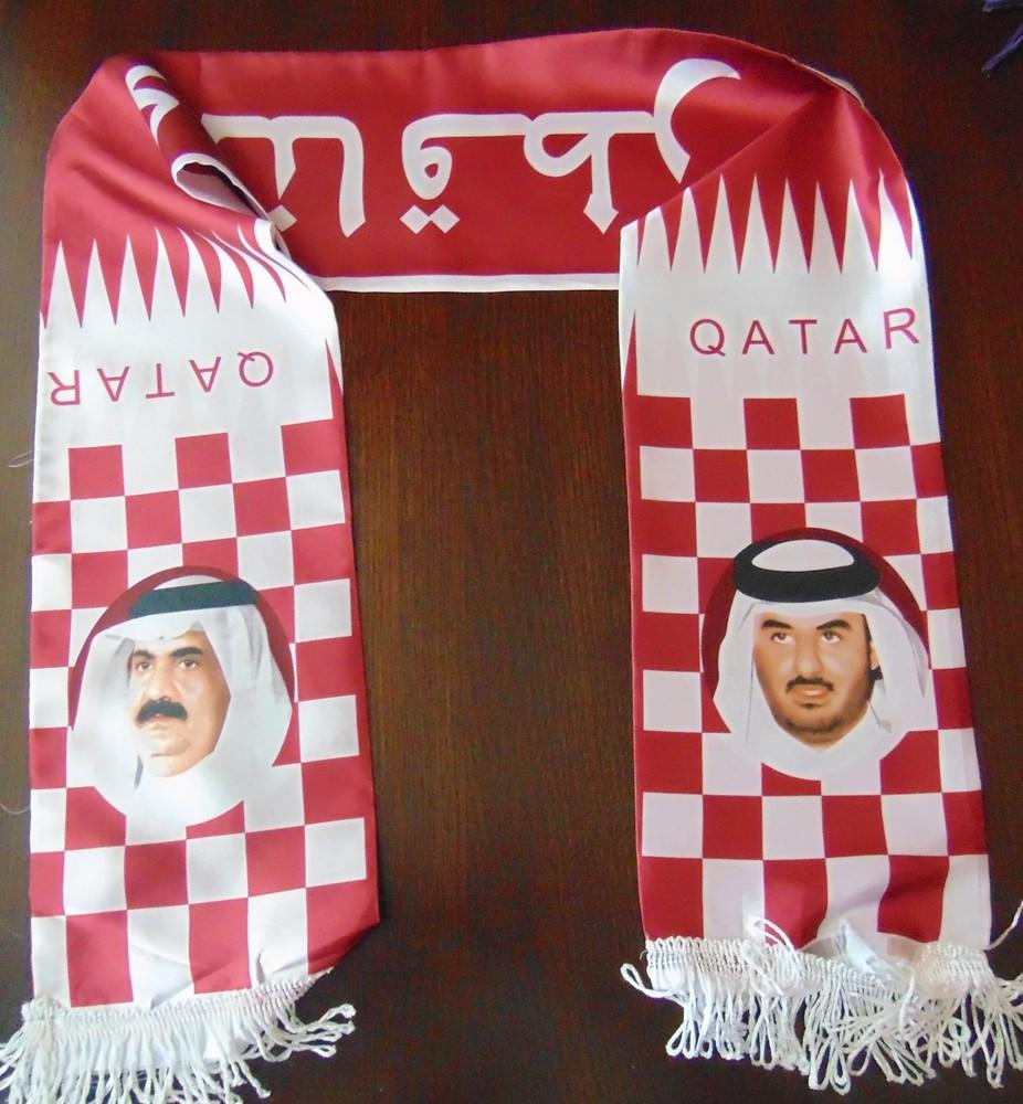 Фирменный спортивный  шарф оригинал Qatar. фото №1