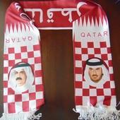 Фирменный спортивный  шарф оригинал Qatar.