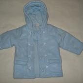 флисовая утеплённая куртка-пальто на 12-18 месяцев