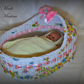 Плетёная кроватка для кукол