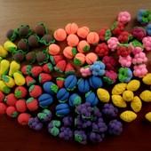 Миниатюрные фрукты для кухни, игры в магазин, или для Барби. Набор из 20 шт. Детки в восторге!