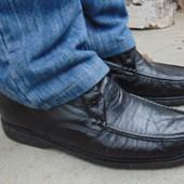 Фирмовые кожаные стильные удобные туфли Pinosos Calida 42-43