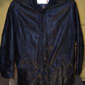 Куртка шкіряна чоловіча велика