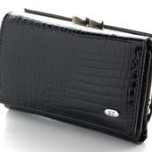 Женский кожаный кошелек ST складной лаковый В наличии большой асортимент кошельков