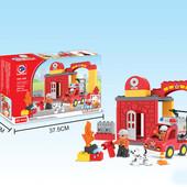 """Констр. """"Пожарная станция"""", аналог Лего Дупло"""