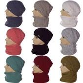 Стильный женский набор шапка и хомут