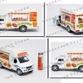 Металлическая машинка Fast Food Truck, закусочная на колесах, микро автобус