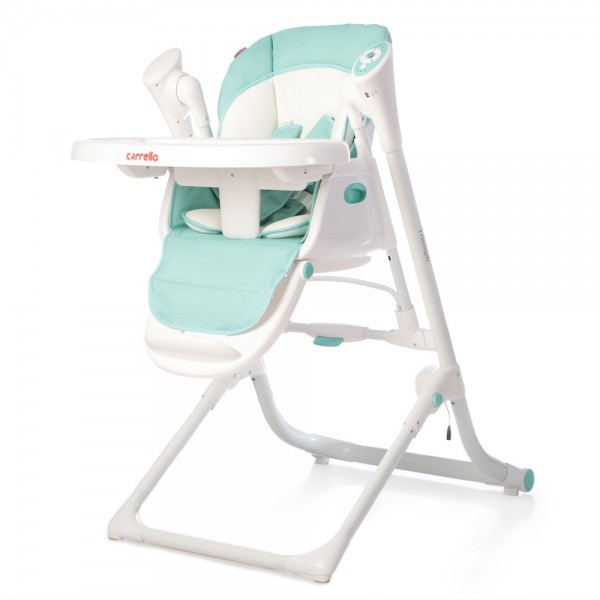 Стульчик-качели carrello triumph crl-10302 turquoise / mint green фото №1
