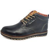 Зимние ботинки Hilfiger из натур кожи, на меху 2 цвета