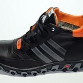 Зимние кроссовки Adidas на меху, натур кожа.2 цвета