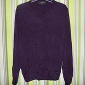 Пуловер фиолетовый -100% шерсть - Toscano-S -Италия!!!