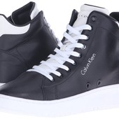 Черные сникерсы хайтопы кеды кожа бренд Calvin Klein р. 40