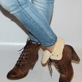 Ботинки 39 р Pesaro Италия кожа оригинал зима