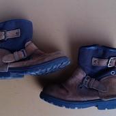 Замшевые деми ботинки
