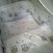 """Постельный комплект в кроватку """"Совушки"""""""