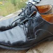 Фирменные стильные кожаные туфли  ботинки Jan Ponlsen .42
