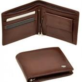 Мужской кожаный кошелек портмоне Dr.Bond с зажимом для купюр В наличии разные модели