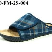 100-FM-2S-004,  тапочки мужские домашние Inblu Инблу, цвет - синий, размеры 40-46
