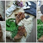Брендовые замшевые ботинки Kurt Geiger, р-р 38
