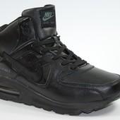 Мужские Зимние kроссовки Nike Air Max Black